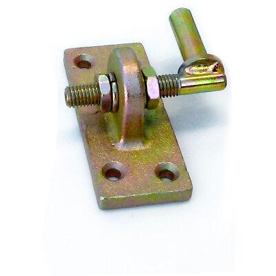 Kloben 13mm Dorn verstellbar auf Anschraubplatte - gelbchrom