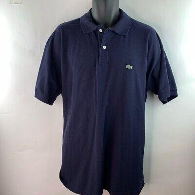 Lacoste Mens Polo Shirt Blue Short Sleeve Cotton Crocodile Logo 9 US 3X-4X