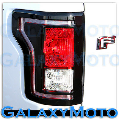15-17 Ford F150 Truck Gloss Black Plated Taillight Tail Light Trim Bezel Cover - Ford Truck Trim
