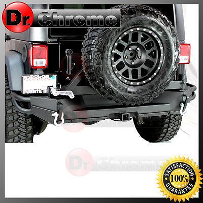 "07-16 Jeep Wrangler JK Rock Crawler Full Width Rear Bumper+Tire Carrier+2"" Hitch"