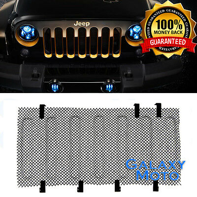 Bug Screen Mesh Stainless Grille Insert Cover Grill fit 07-17 Jeep Wrangler JK ()