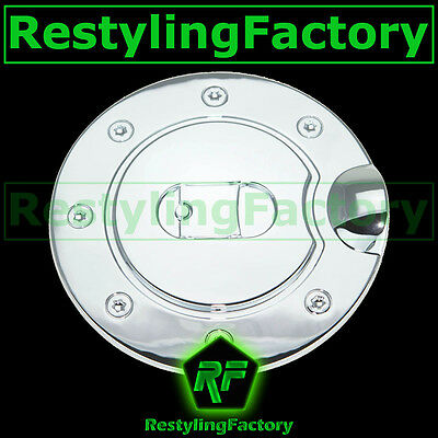 Plated Fuel Door Cover (09-14 FORD F150 Triple Chrome Plated ABS Gas Fuel Door Cover )