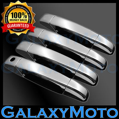 07-13 Chevy Silverado 1500+2500+3500+HD Truck Triple Chrome 4 Door Handle Cover Chrome 1500 Triple Handle