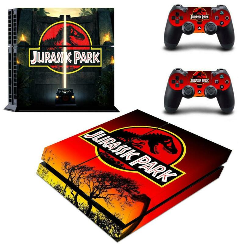 Jurassic+Park+Dinasour+Vinyl+Decals+Stickers+for+PS4+Console+Controllers+Skins