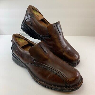 Clarks Mens Loafers Shoes Brown Leather Slip-On Bicycle Toe 11 EUR 44,5 M