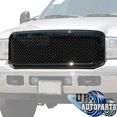 05-07 Ford Super Duty ABS Black Mesh Replacement W/shell Grille Grill