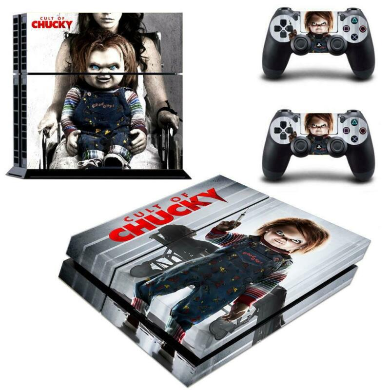 Curse+of+Chucky+Vinyl+Decals+Stickers+Covers+for+PS4+Console+Controllers+Skins