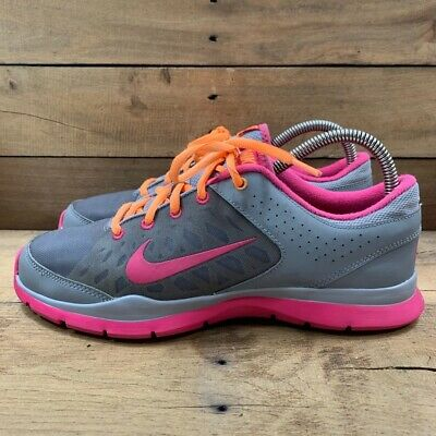 Nike Womens Flex Trainer Running Shoes Gray 580374-001 2013 Low Top Lace Up US 9