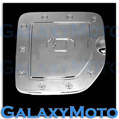Triple Chrome Fuel Tank Gas door Cover for Nissan 05-14 Frontier LONG Truck Bed