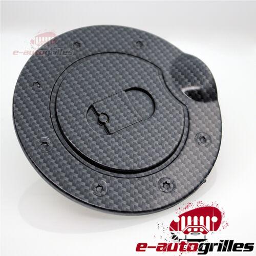 black carbon fiber look abs fuel gas tank cap door cover. Black Bedroom Furniture Sets. Home Design Ideas