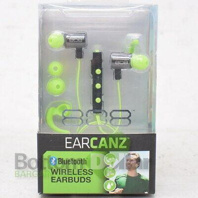Audiovox HPA205GRT 808 Ear Canz Bluetooth Wireless Earbuds Green/Black