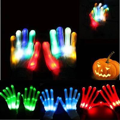 ht Up Handschuhe bunte Beleuchtung Für Rave Halloween (Light Up Rave Handschuhe)