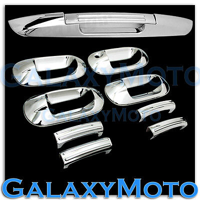 (03-12 Ford Expedition Chrome 4 Door Handle+Lower Tailgate Liftgate Cover Combo)