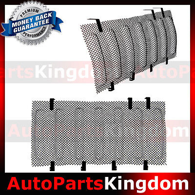 Black Bug Screen Mesh Stainless Grille Insert Cover Fit 07-17 Jeep JK Wrangler ()