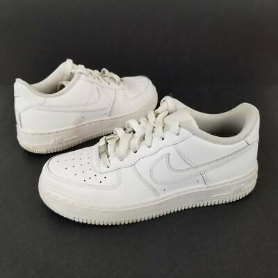 Nike Youth Unisex Air Force 1 Low GS Sneakers White Leather 314192 117 Casual 5Y