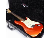 2009 Fender Custom Shop Deluxe Stratocaster Guitar – Candy Tangerine / Relic - Trades