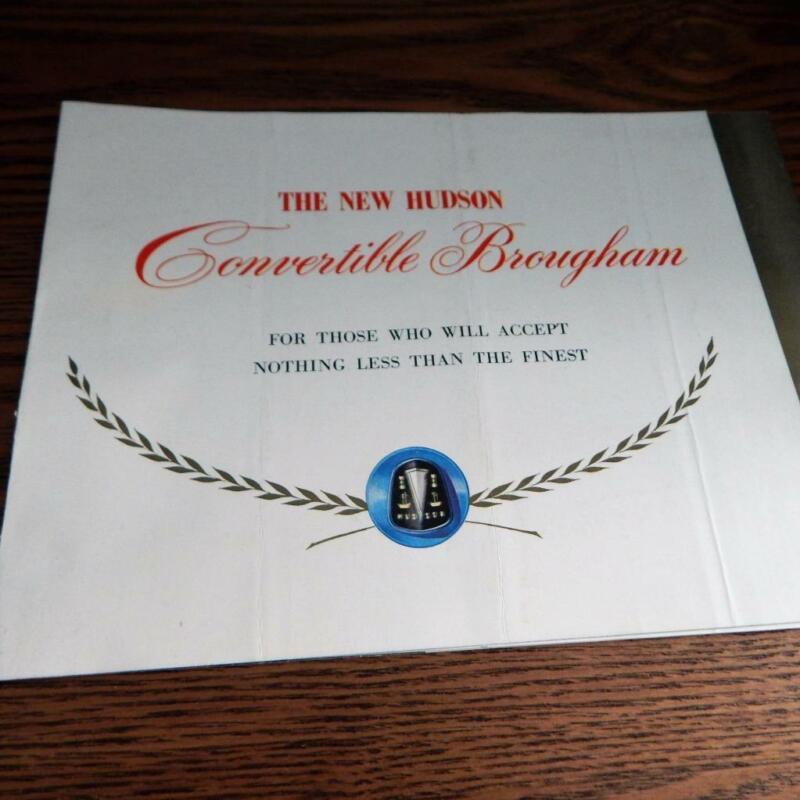 Vintage 1949 HUDSON CONVETIBLE BROUGHAM Original Dealer Sales Brochure