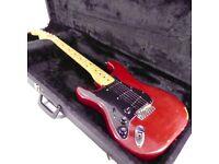 1978 Fender American Stratocaster Left Handed Vintage Guitar - Wine Red - Trades