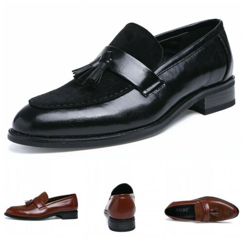 Details about  /Mens Low Top Leather Shoes Tassels Pointy Toe Party Wedding Oxfords Slip on 43 L