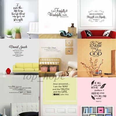 Bible Verse Wall Decals Christian Quote Vinyl Wall Art Stickers Scripture - Scripture Stickers