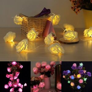 2m 20 led light guirlande d co lumi re fleur rose no l for Guirlande jardin led