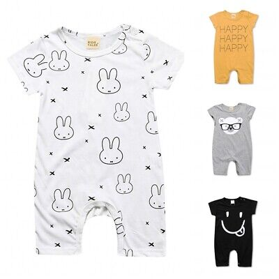 0-2Y Newborn Baby Boy Girl Cartoon Romper Bodysuit Jumpsuit Cute Clothes Outfits