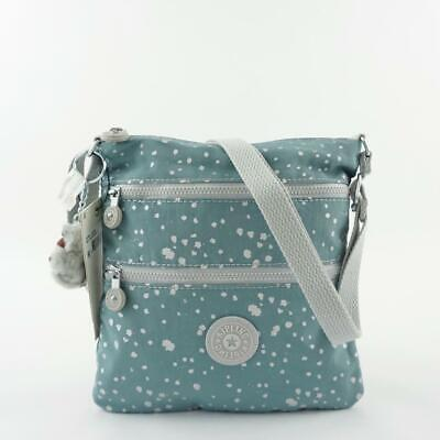 KIPLING KEIKO Shoulder Crossbody Bag Silver Sky Blue