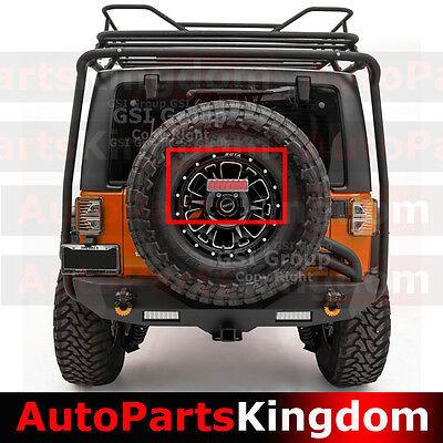 3rd Brake LED Light Clear Lens w/Spare Tire Bracket Fit 07-17 Jeep JK Wrangler