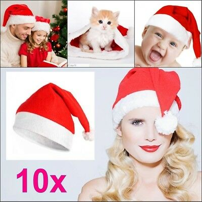 Christmas Party Baby Adult Santa Hat Red And White Xmas Cap for Santa Claus Lot