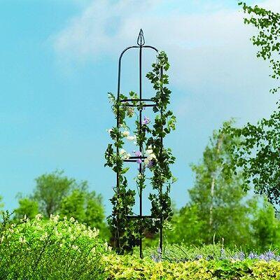 Gardman Easy Garden Obelisk, 193 x 33cm, Plant Support, Coated Steel Decoration