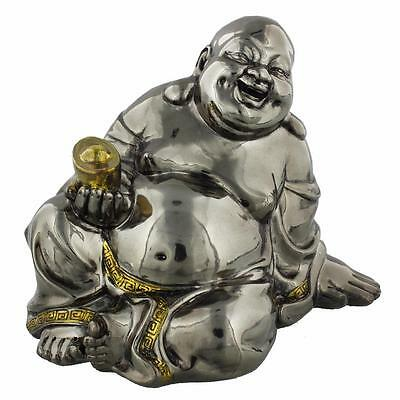 Bronze Finish Happy Sitting Buddha 13cm 68944