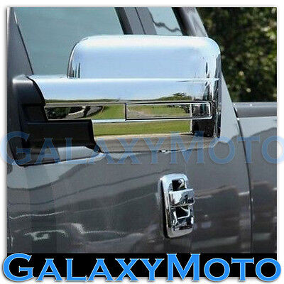 09-14 Ford F150 Truck Chrome Mirror without Turn Light Signal Full Cover a - Ford Truck Chrome