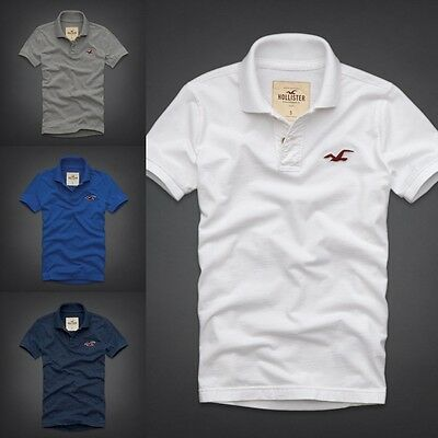 NWT Hollister by Abercrombie Men's Muscle Slim Fit Diver's Cove Polo T-Shirts