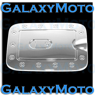 Plated Fuel Door Cover (Triple Chrome plated ABS Gas Fuel Tank Door Cover for 08-12 Nissan PATHFINDER )