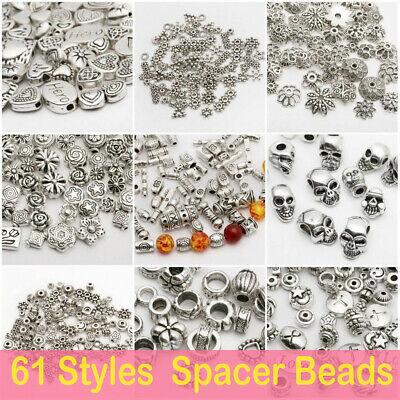 Großhandel Silber Spacer Perlen für Schmuckzubehör DIY europäischen Armband Sg