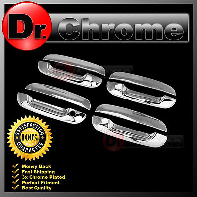 02-07 Cadilla CTS+00-05 Cadillac DeVille Chrome 4 Door Handle W/O PSG KH Cover ()