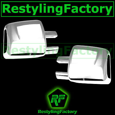 07-14 Toyota Tundra Triple Chrome plated Double CrewMax Full Towing Mirror Cover ()