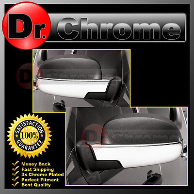 07-14 Chevy Suburban+Tahoe Triple Chrome Plated Lower Half Mirror Cover ()