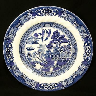 Blue Willow Luncheon Plate (Royal Cuthbertson Blue Willow Luncheon Plate 7.5