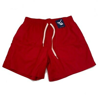 Chubbies Mens Swim Trunks Red Mesh Lined Drawstring Pocket Board Shorts M (Mens Swimsuits)
