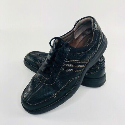 Clarks Mens Slone Shoes Black Leather Lace Up Lightweight Oxford Sneakers 12 M