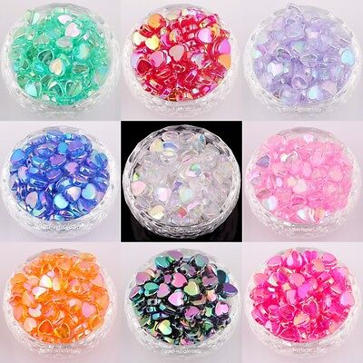 Heart Beads (Lots 200 pcs Heart Acryl AB Color Spacer Beads For Jewelry Making Findings)