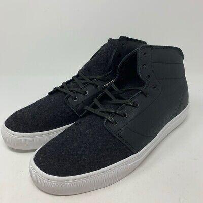 Vans OTW Mens Alcon Skateboarding Shoes Black Lace Up Mid To