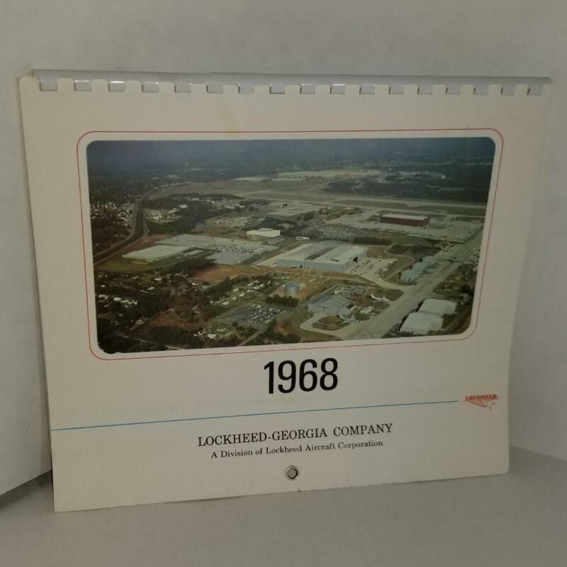 1968 Lockheed Georgia Company calendar Lockheed Aircraft corp airplane pictures