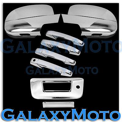 07-13 Chevy Silverado Chrome Full Mirror+4 Door Handle+Tailgate w.KH no CM Cover