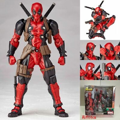 Anime Super Hero Revoltech DEADPOOL X-Men Action Figure Toy Gift New In Box 16cm
