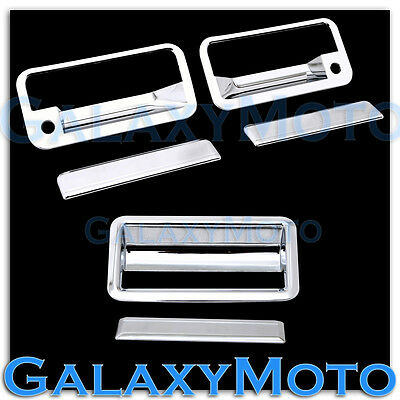 88-98 CHEVY C+K 1500+2500+3500 Triple Chrome 2 Door Handle+PSG KH+Tailgate Cover Chrome 1500 Triple Handle