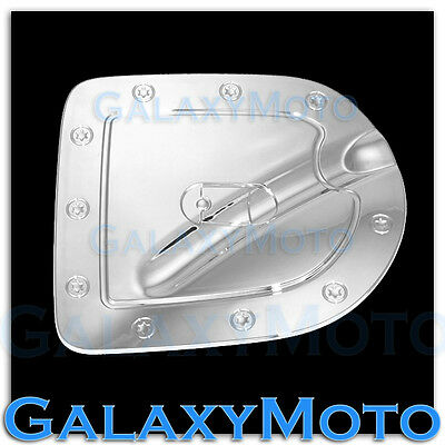 Triple Chrome Gas Door Cover For 05 14 Nissan Frontier Short Truck Bed Only