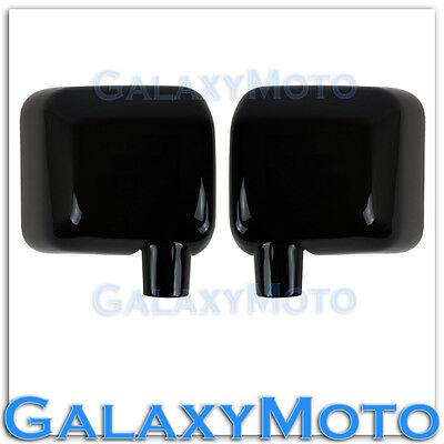 Gloss Shiny Black Full Mirror Cover All Black 1pair for 07 17 Jeep Wrangler JK