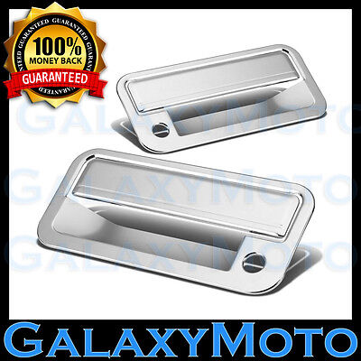 88-98 CHEVY C+K 1500+2500+3500 Triple Chrome 2 Door Handle+W/ PSG Keyhole Cover Chrome 1500 Triple Handle